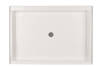 Swanstone R-3448-018 Single Threshold Shower Floor - Bisque (Pictured in White)