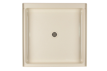 Swanstone R-3636-010 Single Threshold Shower Floor - White (Pictured in Bone)