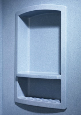 Swanstone RS-2215-037 Recessed Shampoo Shelf - Bone ( Pictured in Tahiti Blue )