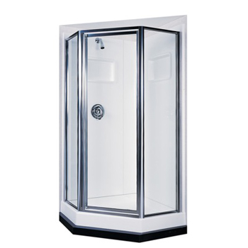 Swanstone Sd36neo Neo Angle Obscure Glass Shower Door Kit