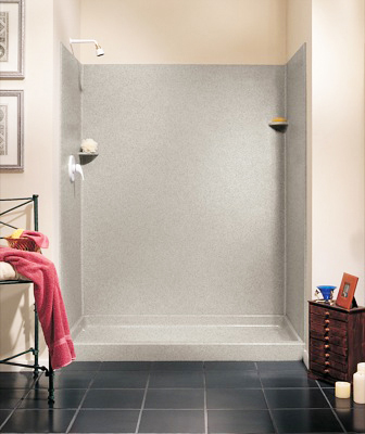Swanstone SK-326072-010 Shower Wall Kit - White (Pictured in Pebble)