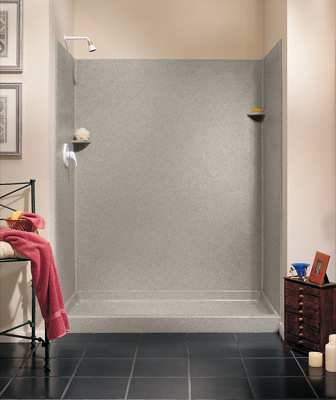 Swanstone SK-346072-046 Shower Wall Kit - Almond Galaxy