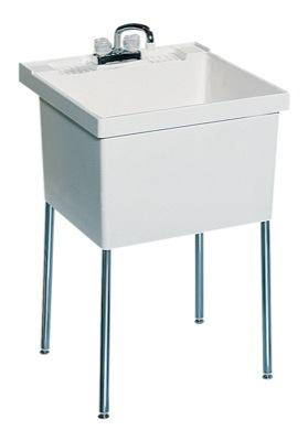 Swanstone ST-1F-010 Laundry Tub - White