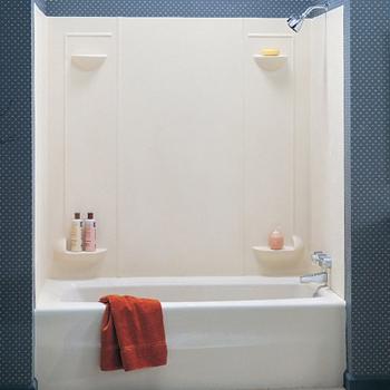 swanstone tf-57-037 veritek 5-panel tub wall kit - bone