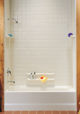Swanstone Ti 5 037 Swantile Tub Wall Kit Bone