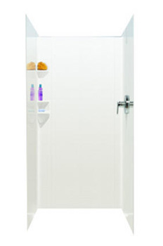 Swanstone SW07038AD High Gloss Shower Wall Kit - White