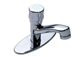 Symmons S-72 Metering Faucet With Deck Plate - Chrome