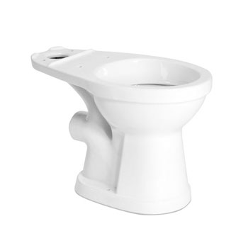 Saniflo 003 Round Front Rear Spigot Toilet Bowl - White