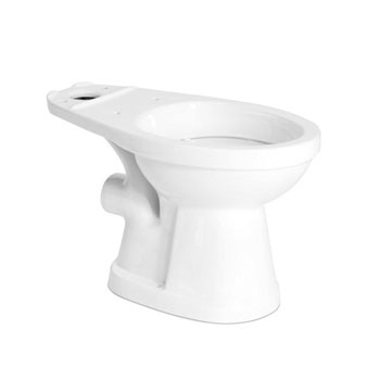 Saniflo 007 Elongated Rear Spigot Toilet Bowl - White