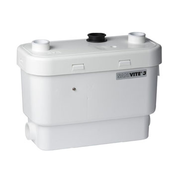 Saniflo 008 Sanivite Gray Water Pump Heavy Duty - White