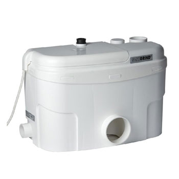 Saniflo 014 Sanigrind Grinder Pump For Bottom Outlet Toilets - White