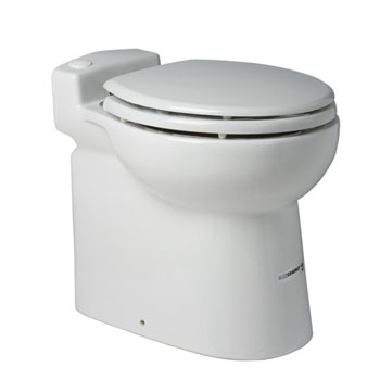 Saniflo 023 Sanicompact 48 Once Piece Toilet With Macerator Built Into The Base - White
