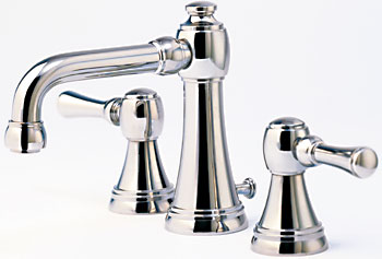 Santec 4020PL75 Estate Series Tower Faucet - Satin Nickel (Pictured in Polished Chrome)