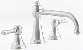 Santec 4050PR23-TM Estate Series Tower Roman Tub Filler Trim - PVD Brass (Pictured in Satin Nickel)