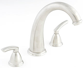 Santec 4150BL23-TM Estate Series Britani Roman Tub Filler Trim - PVD Brass (Pictured in Satin Nickel)