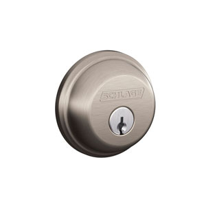 Schlage B60N 619 Keyed 1 Side Deadbolt - Satin Nickel