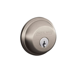 Schlage B62N 619 Keyed 2 Sides Deadbolt - Satin Nickel