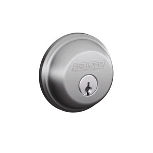 Schlage B62N 626 Keyed 2 Sides Deadbolt - Satin Chrome
