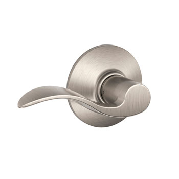 Schlage F10 ACC 619 Accent Hall and Closet Lever - Satin Nickel