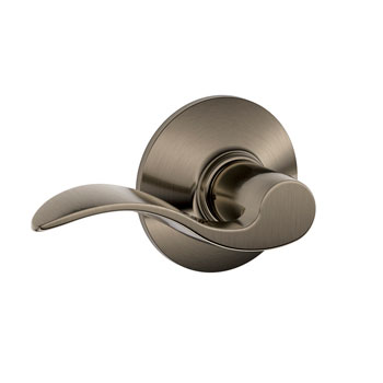 Schlage F10 ACC 620 Accent Hall and Closet Lever - Antique Pewter