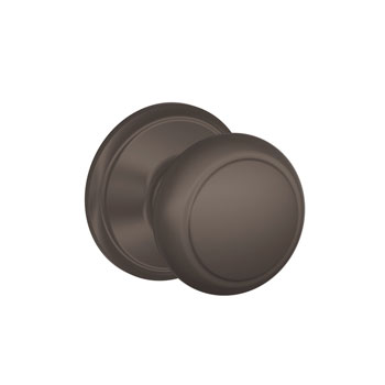 Schlage F10 AND 613 Andover Hall and Closet Knob - Oil Rubbed Bronze