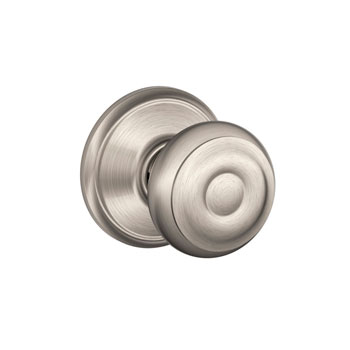 Schlage F10 GEO 619 Georgian Hall and Closet Knob - Satin Nickel