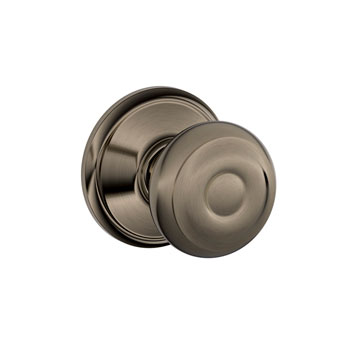 Schlage F10 GEO 620 Georgian Hall and Closet Knob - Antique Pewter