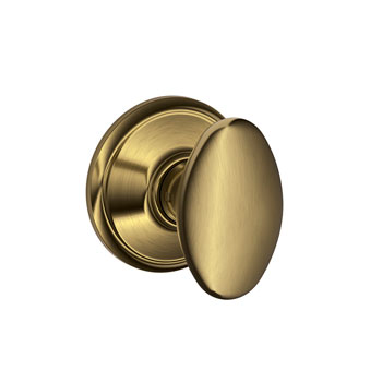 Schlage F10 SIE 609 Siena Hall and Closet Knob - Antique Brass
