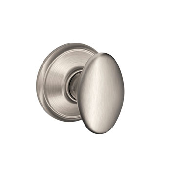 Schlage F10 SIE 619 Siena Hall and Closet Knob - Satin Nickel
