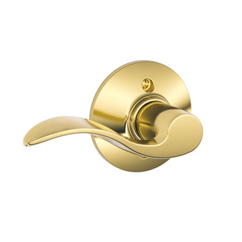 Schlage F170 ACC 605 LH Accent Left Hand Decorative Trim Lever - Bright Brass
