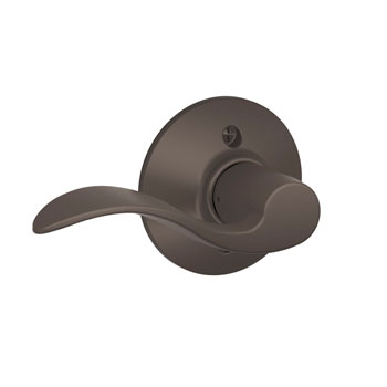 Schlage F170 ACC 613 LH Accent Left Hand Decorative Trim Lever - Oil Rubbed Bronze