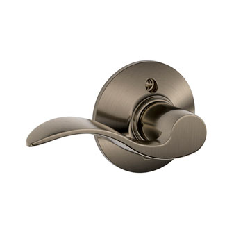 Schlage F170 ACC 620 LH Accent Left Hand Decorative Trim Lever - Antique Pewter
