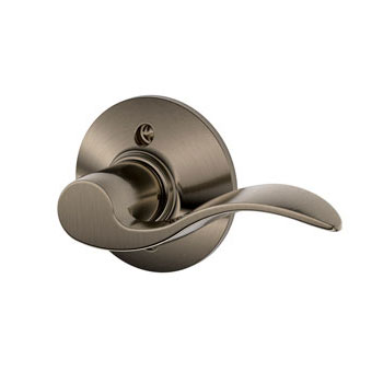 Schlage F170 ACC 620 RH Accent Right Hand Decorative Trim Lever - Antique Pewter
