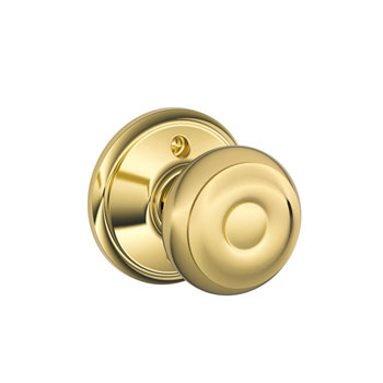 Schlage F170 GEO 605 Georgian Decorative Trim Knob - Bright Brass