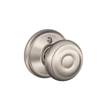 Schlage F170 GEO 619 Georgian Decorative Trim Knob - Satin Nickel