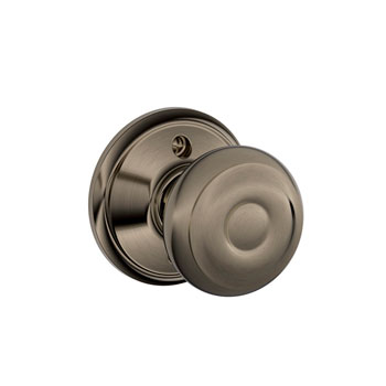 Schlage F170 GEO 620 Georgian Decorative Trim Knob - Antique Pewter