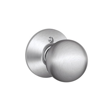 Schlage F170 ORB 626 Orbit Decorative Trim Knob - Satin Chrome