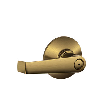 Schlage F40 ELA 609 Elan Bed and Bath Lock Lever - Antique Brass