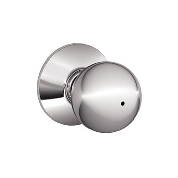 Schlage F40 ORB 625 Orbit Bed and Bath Lock Knob - Bright Chrome
