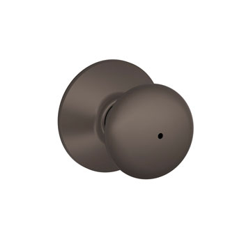 Schlage F40 PLY 613 Plymouth Bed and Bath Lock Knob - Oil Rubbed Bronze
