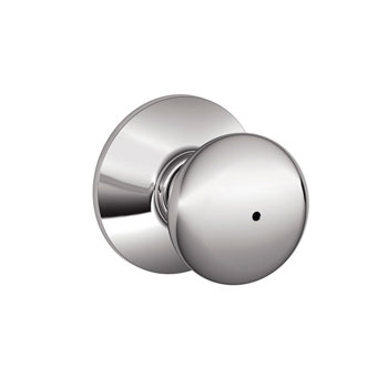 Schlage F40 PLY 625 Plymouth Bed and Bath Lock Knob - Bright Chrome