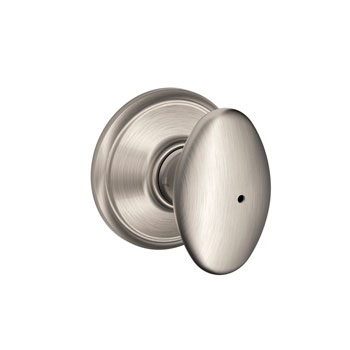 Schlage F40 SIE 619 Siena Bed and Bath Lock Knob - Satin Nickel