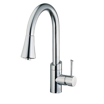 Belle Foret BF406CP Pull Out Kitchen Faucet - Chrome
