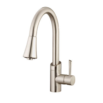 Belle Foret BF406SS Pull Out Kitchen Faucet - Stainless Steel