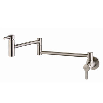 Belle Foret BF420SS Wall Mount Pot Filler - Stainless Steel