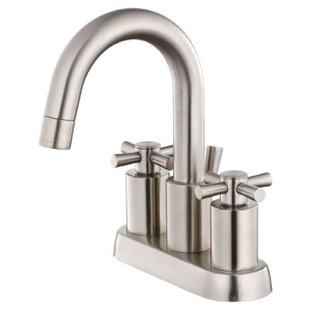 Belle Foret SCL350SN Two Handle Centerset Lavatory Faucet - Satin Nickel