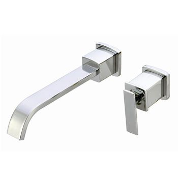 Belle Foret L475CP Sinlge Handle Wall Mount Lavatory Faucet - Chrome