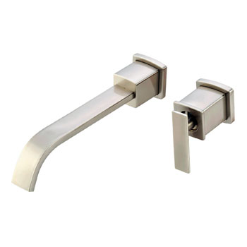 Belle Foret L475SN Sinlge Handle Wall Mount Lavatory Faucet - Satin Nickel