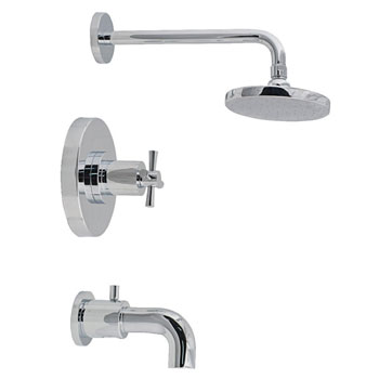 Belle Foret TS300CP Pressure Balance Tub and Shower Faucet - Chrome