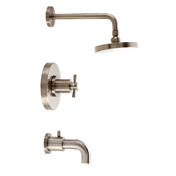 Belle Foret TS300SN Pressure Balance Tub and Shower Faucet - Satin Nickel